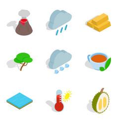 Eco vital icons set isometric style vector