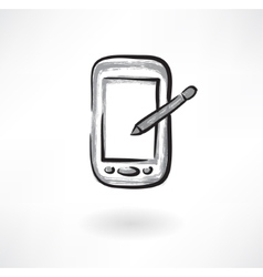 electronic device grunge icon vector image