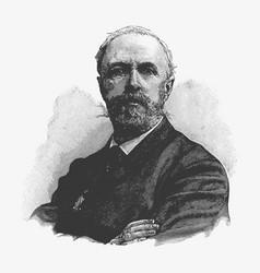 Engraving portrait oscar ii sweden a former vector