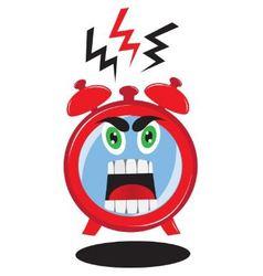Evil ringing alarm vector