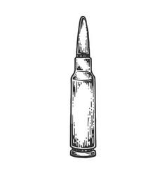 Firearms cartridge engraving vector