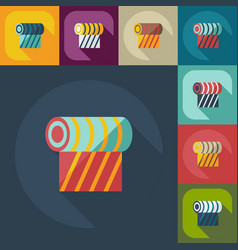 Flat modern design with shadow icons cloth vector