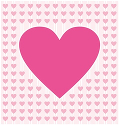 Frame border shaped from pink heart on light pink vector