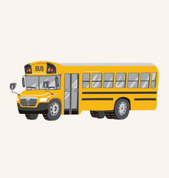 funny cute hand drawn cartoon school bus vector image