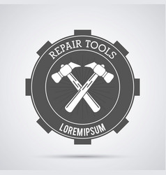 hammer tool icon repair concept graphic vector image
