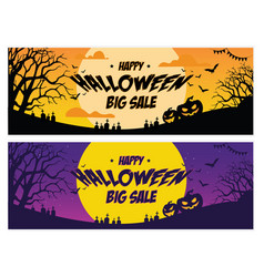 happy halloween big sale banner vector image