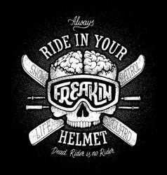 Helmet safety propaganda vector