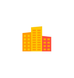 high buildings icon flat element vector image