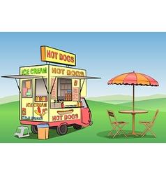 Hot Dog Ice Cream vector