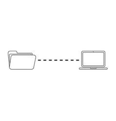 Icon concept file transfer between folder and vector