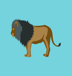 In flat style lion vector