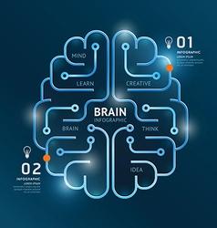 Infographics brain design diagram banner line vector