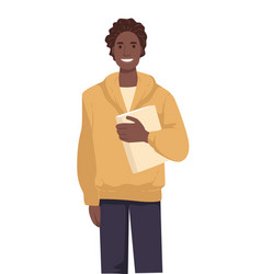 international student with book african american vector image