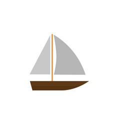 Isolated vessel flat icon yacht elemen vector