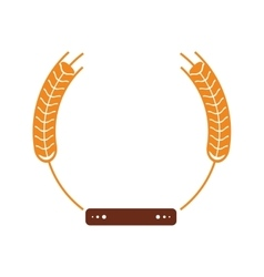 Isolated wheat ear with label design vector