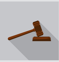 judge gavel icon flat style vector image