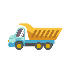kid toy children plaything tipper truck vector image