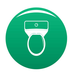 lavatory icon green vector image