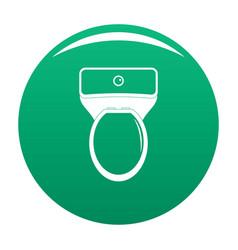 Lavatory icon green vector