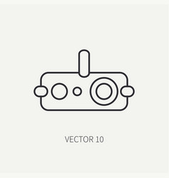 line flat military icon - night-vision vector image