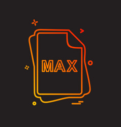 Max file type icon design vector