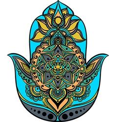 Multicolored hamsa vector