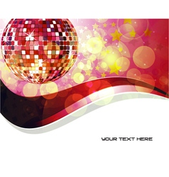 Music background with discoball vector