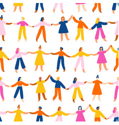 People holding hands worldwide international vector