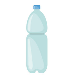 plastic bottle icon isolated on white background vector image