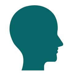 Profile human isolated icon vector