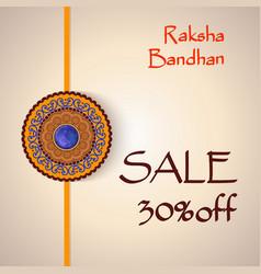 Raksha bandhan sale creative background vector