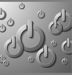 Realistic toggle switch black switches vector