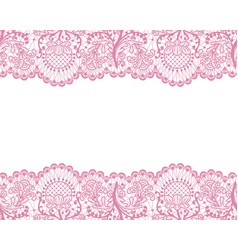 Seamless pink lace vector