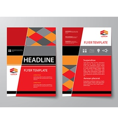 set business magazine cover flyer brochure vector image