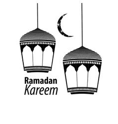 Simple black ramadan kareem vector