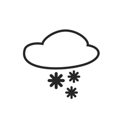 Sleet shower Day and Night Heavy snow vector image