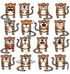 Smiley tigers vector