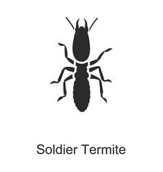 Soldier termite iconblack icon vector