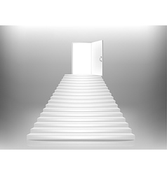 staircase door vector image