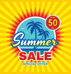 summer sale - concept banner vector image