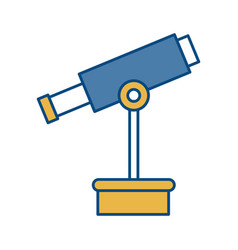 telescope icon image vector image