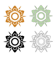 Thai pattern flower vector