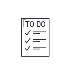 to do list line icon concept to do list vector image