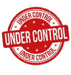 under control sign or stamp vector image