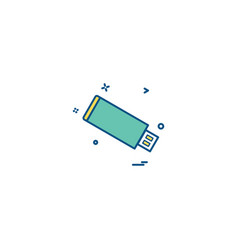 usb device icon design vector image