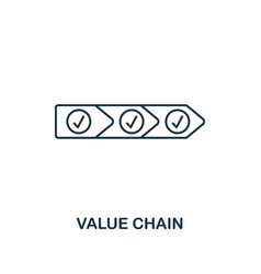 value chain icon thin line style industry 40 vector image