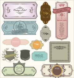 vintage labels - set vector image