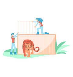 wild animal rescue concept vector image