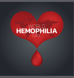 world hemophilia day logo icon design vector image