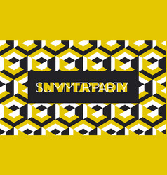 yellow and balck geometric concept pattern vector image